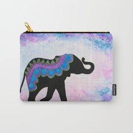 """Ahimsa"" - Patterned Elephant Carry-All Pouch"