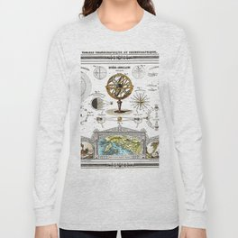 Sphere Armillaire - Astronomical and Cosmographical Chart Long Sleeve T-shirt