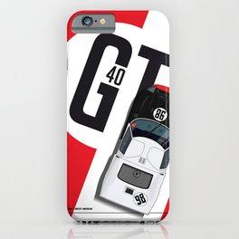 Daytona 1966, GT40 Ken Miles, Lloyd Ruby iPhone Case