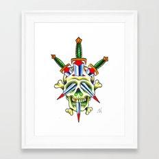 Skull & Dagger Framed Art Print