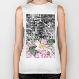 floral wall Biker Tank