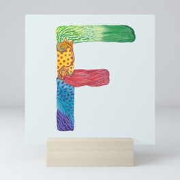F for Fanny - Unique, personalised initial print. Mini Art Print