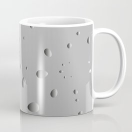 Convex drops and petals on a gray background in nacre. Coffee Mug