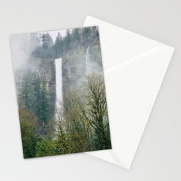 Misty Multnomah Falls, Oregon Stationery Cards