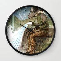"""dragon age inquisition Wall Clocks featuring Dragon Age Inquisition - Cole - Charity by Barbara """"Yuhime"""" Wyrowińska"""