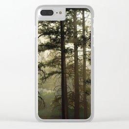 Sunrise Shroud Pine Forest Clear iPhone Case