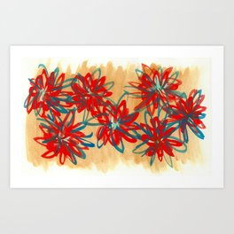 Painted Flowers Art Print