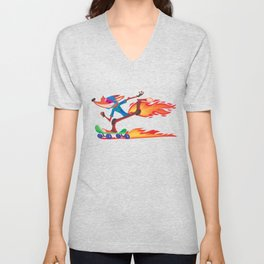 Fox Skater Unisex V-Neck