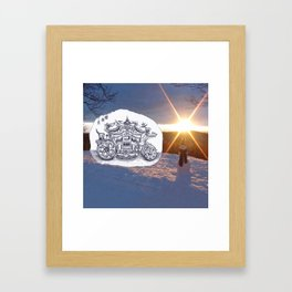 Travel with Mr Snowman Framed Art Print
