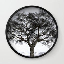 Winter Reflection Wall Clock