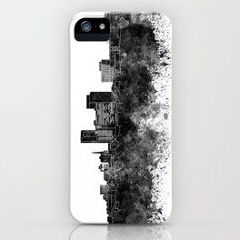 Lexington skyline in black watercolor iPhone Case