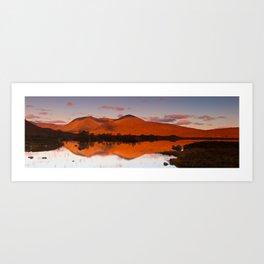 Sunrise at Lochan na h-Achlaise, Scotland Art Print