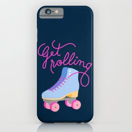 Get Rolling (Navy Background) iPhone Case