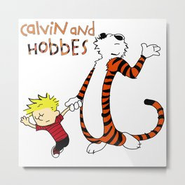 calvin-and-hobbes-finished Metal Print