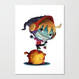 Dark Cat Monster Canvas Print