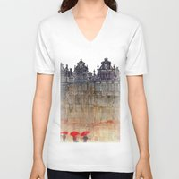 brussels V-neck T-shirts featuring Brussels by takmaj