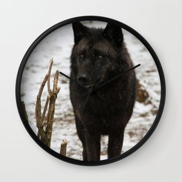 Wolves II  Wall Clock