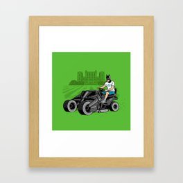The Bat-mow-bile Framed Art Print