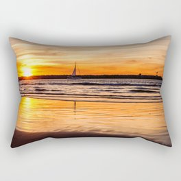 Marina Del Rey Sunset at the Jetty Rectangular Pillow