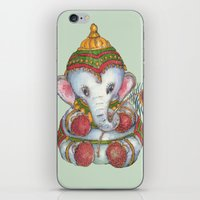 ganesh iPhone & iPod Skins featuring Ganesh by coconuttowers