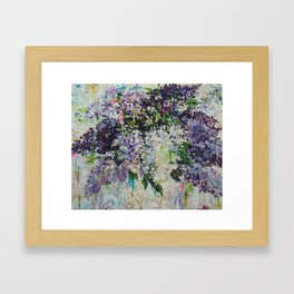 Lilac`s time.  Framed Art Print