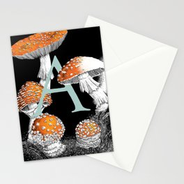 A is for Amanita muscaria Stationery Cards