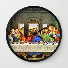 Original Supper Painting Wall Clock