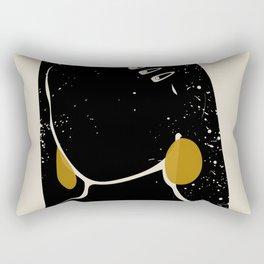 Black Hair No. 3 Rectangular Pillow
