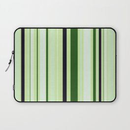 Black Light Blue and Shades of Green Stripes Laptop Sleeve