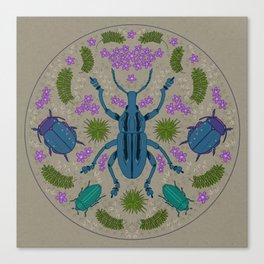 Folk Beetles Canvas Print