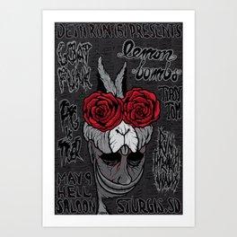 Sturgis Rabbit concert poster Art Print