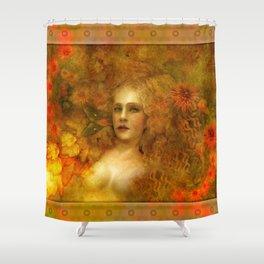 """Ofelita de Oro"" (From ""Death, Life, Hope"") Shower Curtain"