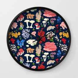 Fabulous Fungi Wall Clock