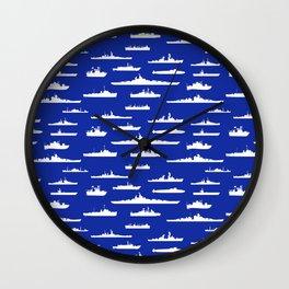 White Fleet at Sea Wall Clock