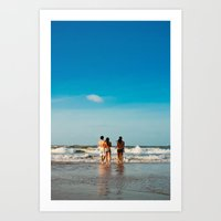 beach and friends Art Print
