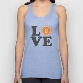 Bitcoin Love Satoshi Blockchain Crypto Currency BTC Unisex Tank Top