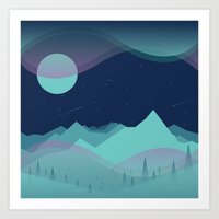 northern lights Art Prints featuring Northern Lights by Brad Hansen