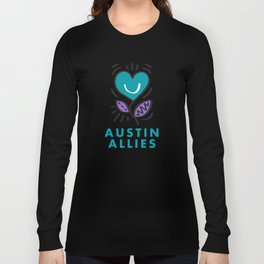 Austin Allies Turq Flower Long Sleeve T-shirt