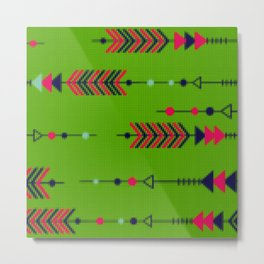 Ethnic Knitted style Arrows Metal Print