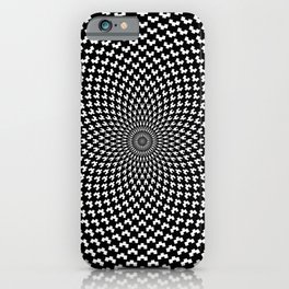 Illusion of Choice Hypnotic Pattern iPhone Case