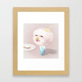 Cotton Candy Drink Framed Art Print