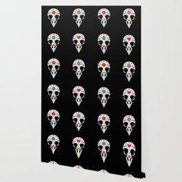 Bird sugar skull Wallpaper