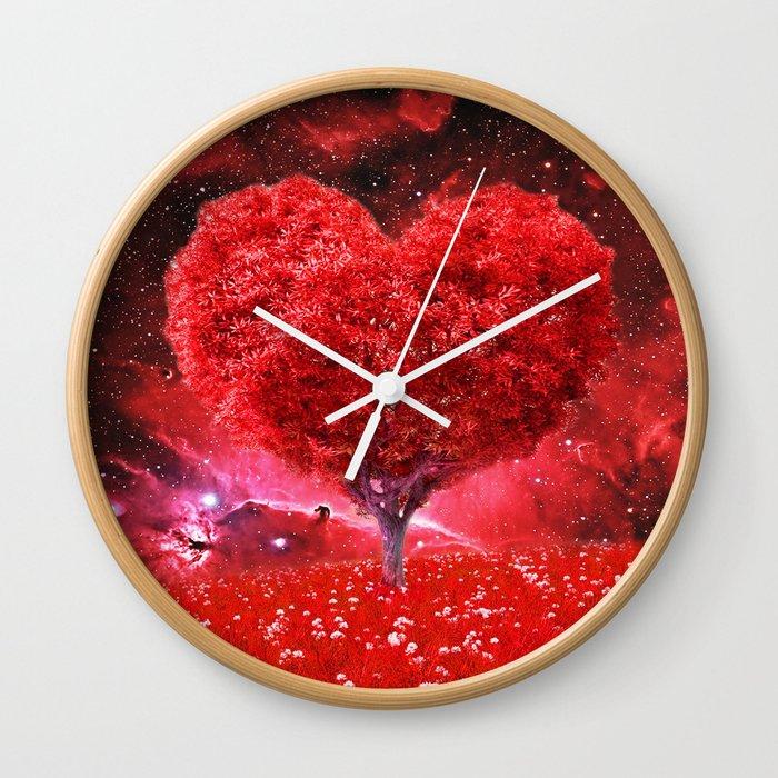 Cosmic love tree Wall Clock