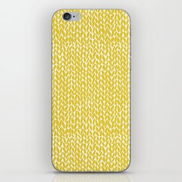 Hand Knit Yellow iPhone Skin