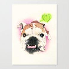 English Bulldog - F.I.P. - @LucyFarted Canvas Print
