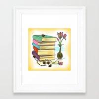 books Framed Art Prints featuring Books by famenxt