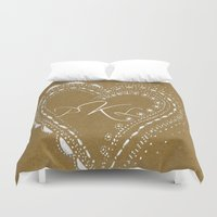 monogram Duvet Covers featuring monogram by L Step