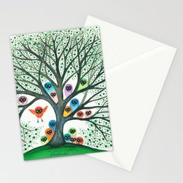 Teton Owls in Tree Stationery Cards