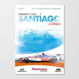 Mahindra Racing FIA Formula E Season 4 Santiago E-Prix Poster Canvas Print