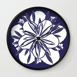 Murasaki flower Wall Clock